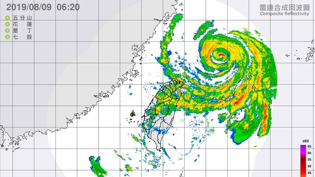 圖/中央氣象局 最新動態!強颱利奇馬觸陸三貂角 北台灣首當其衝