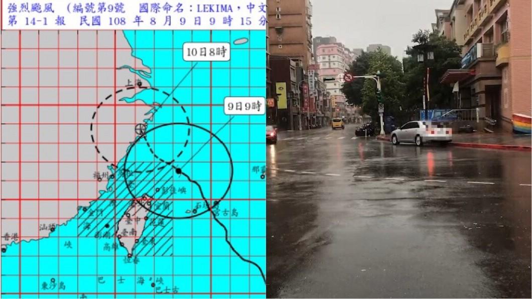 圖/TVBS、中央氣象局 強颱來襲下毛毛雨?台北人「假放得有點心虛」台中人崩潰