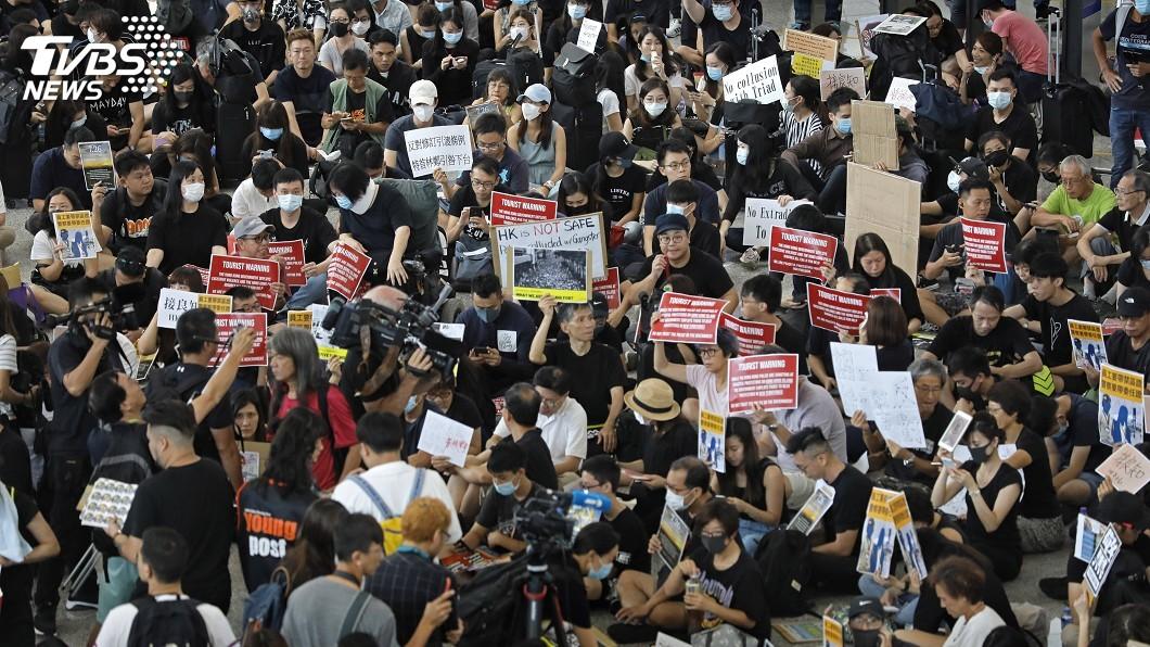 圖/達志影像美聯社 香港機場連3天反送中集會 出境大廳將同步管制