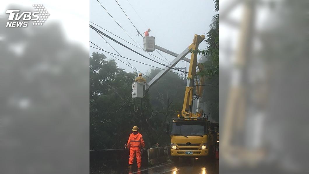 圖/中央社 颱風利奇馬來襲 桃園1萬8千戶停電陸續恢復