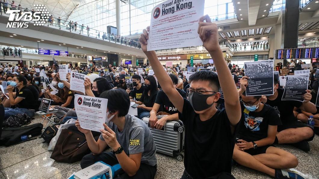 圖/中央社 香港政局掀罵戰 中美連續兩天互批不停嘴