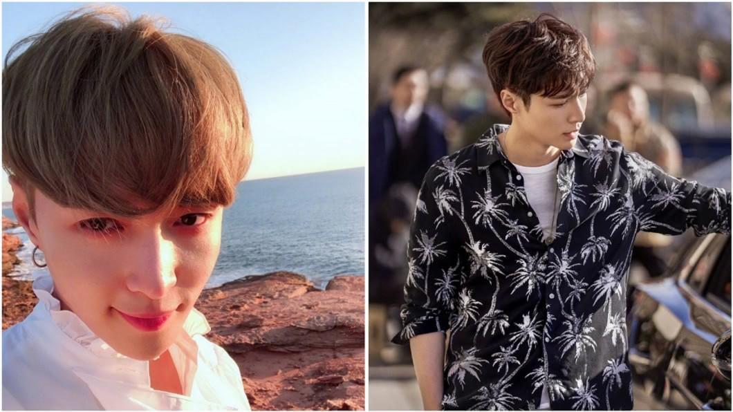 韓團EXO成員張藝星,接下知名品牌全球代言人。合成圖/翻攝努力努力再努力x微博 鮮肉男星「脫到剩內褲」 網吐槽:胸肌畫的吧!