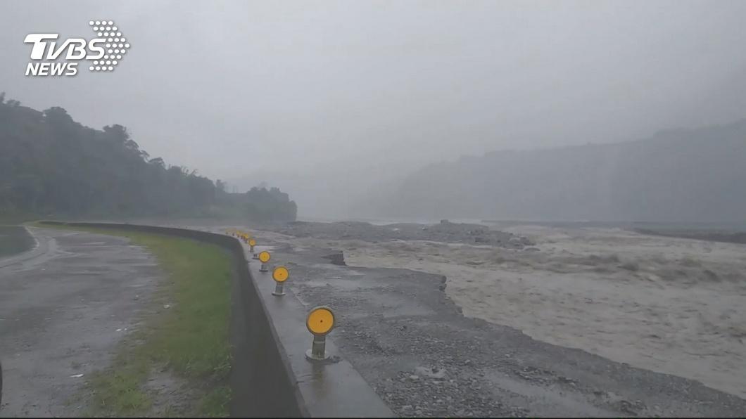 圖/TVBS 高雄那瑪夏驟雨 水利署發布一級淹水警戒