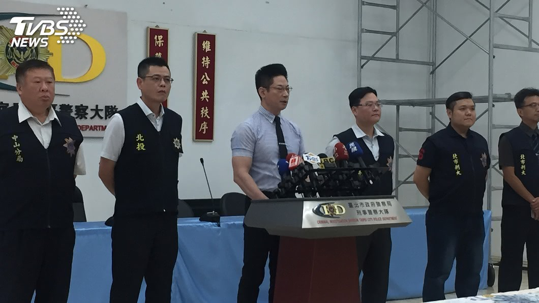 圖/中央社 北市警強力掃黑 逮3治平專案目標