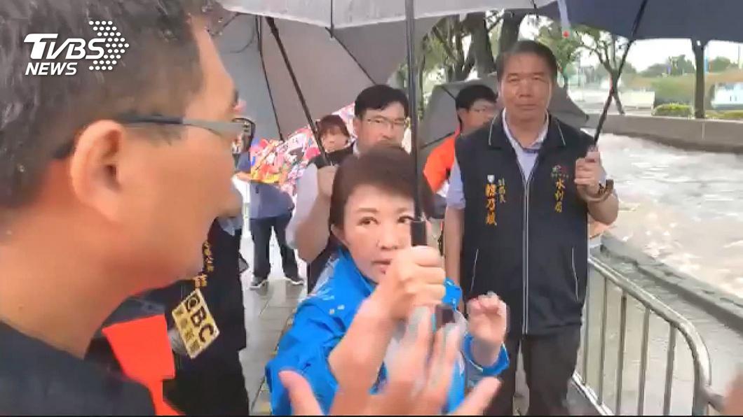 圖/TVBS資料畫面 雨炸台中!網友臉書酸盧秀燕 市府駁不實資訊