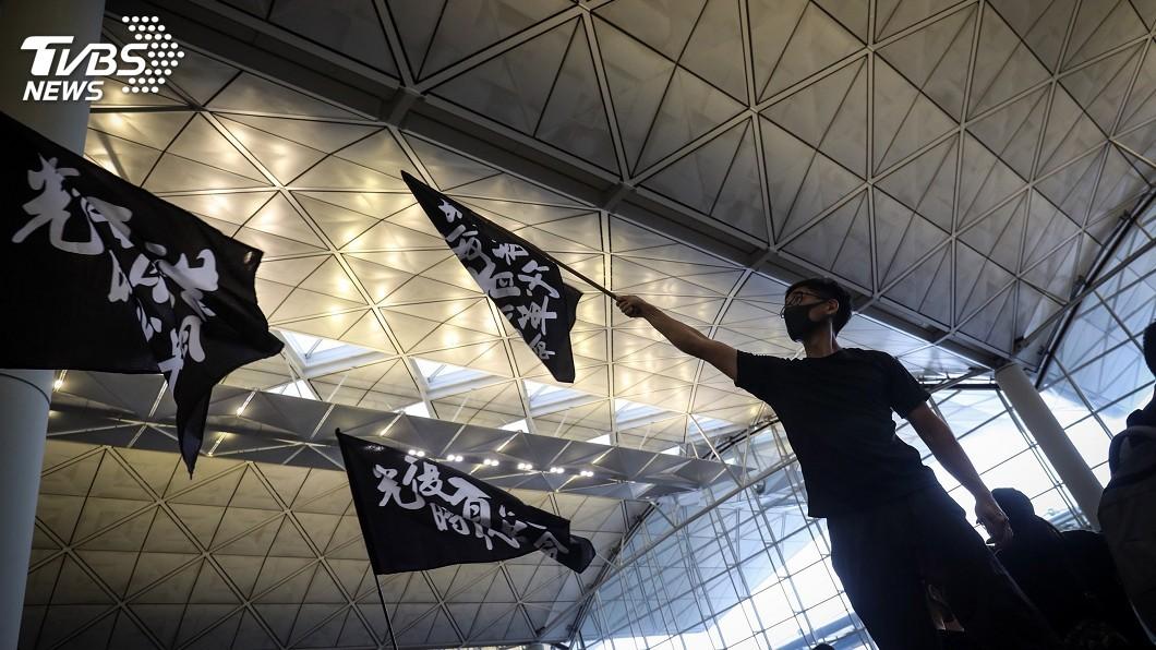 圖/中央社 香港機場停飛 歐媒:抗爭升級尚未看到盡頭