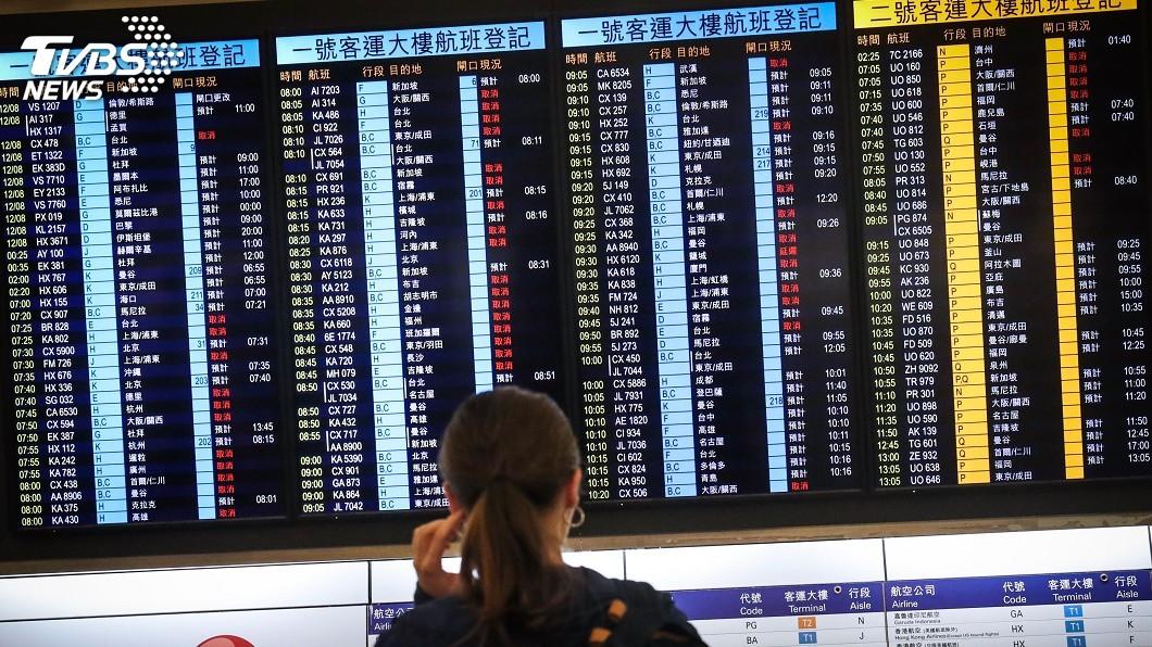 圖/中央社資料畫面 香港反送中影響航班 業者籲檢視旅遊險理賠認定