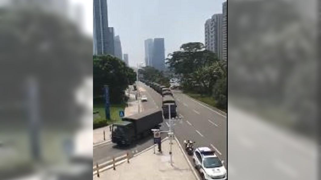 圖/翻攝自期貨_絲路微博 敏感時機 陸媒發佈武警集結深圳演習影片