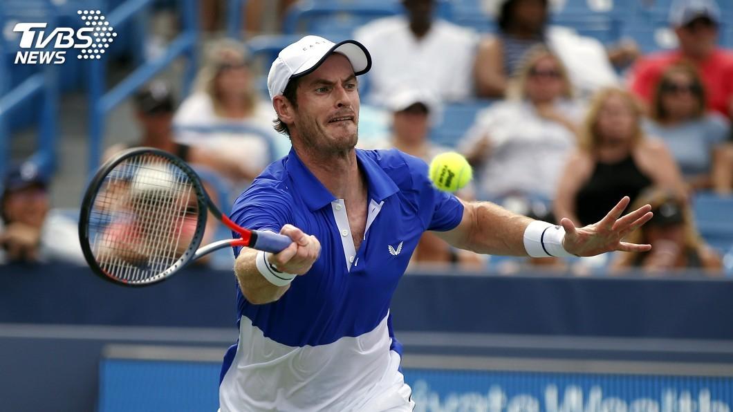 圖/達志影像美聯社 辛辛那提網賽首輪出局 莫瑞不打美網單打賽事