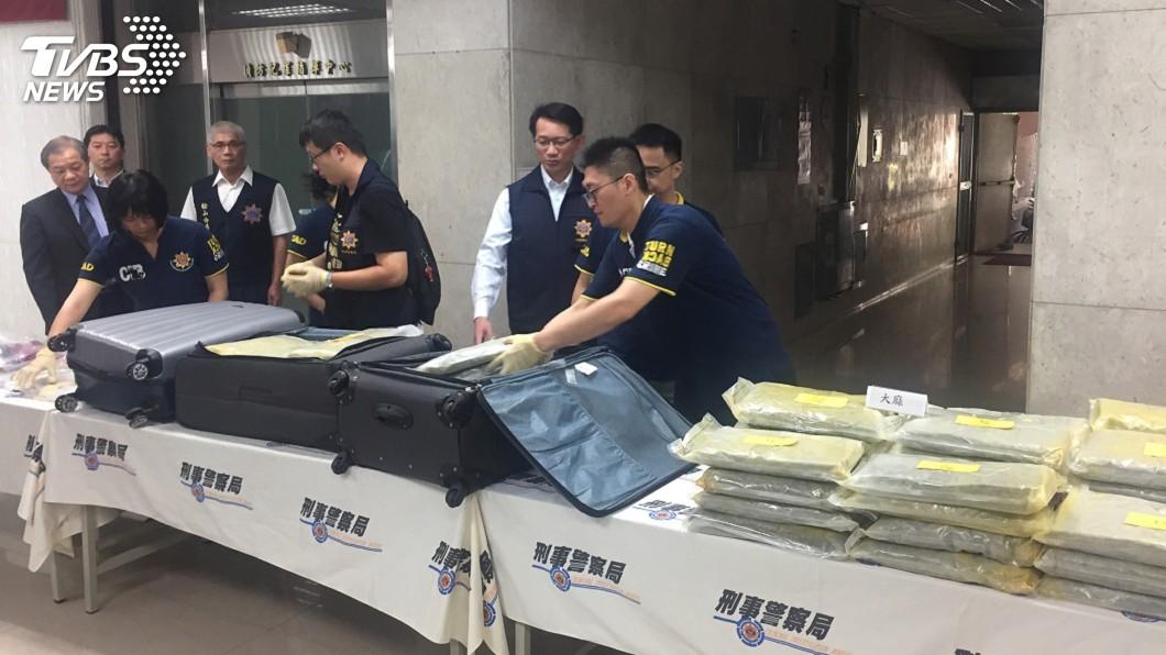 圖/中央社 刑事局破跨境運毒集團 逮13人毒品市值逾3億元