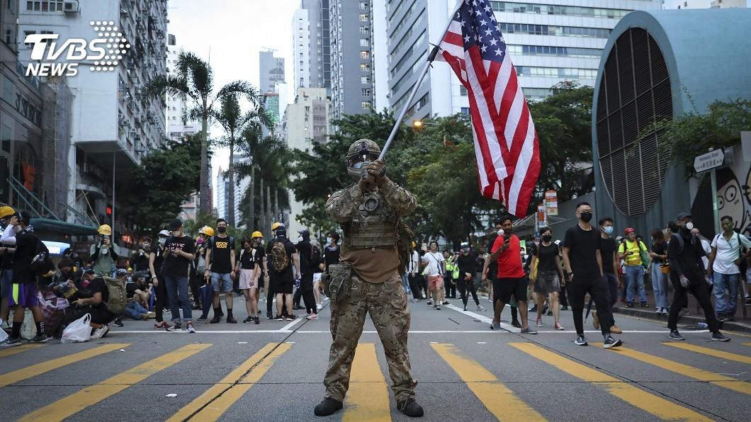圖/達志影像美聯社 「要求美國派兵香港」 白宮連署火速過門檻