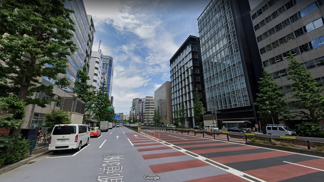 日本東京市容。圖/翻攝Google Map 日本馬路沒違停「3原因」 網嘆:台灣難做到