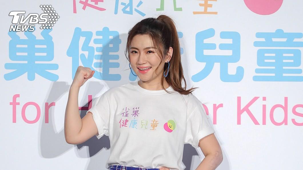女星Selina昨(13日)出席健康兒童計畫記者會。圖/中央社