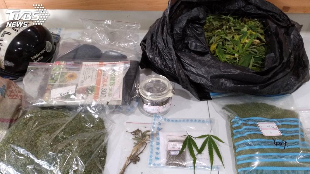 圖/中央社 涉占用偏僻林地種大麻 台南警方逮1男
