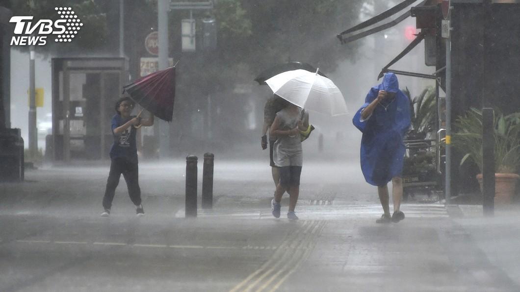 圖/達志影像美聯社 超大颱柯羅莎直撲日本 周四從四國登陸