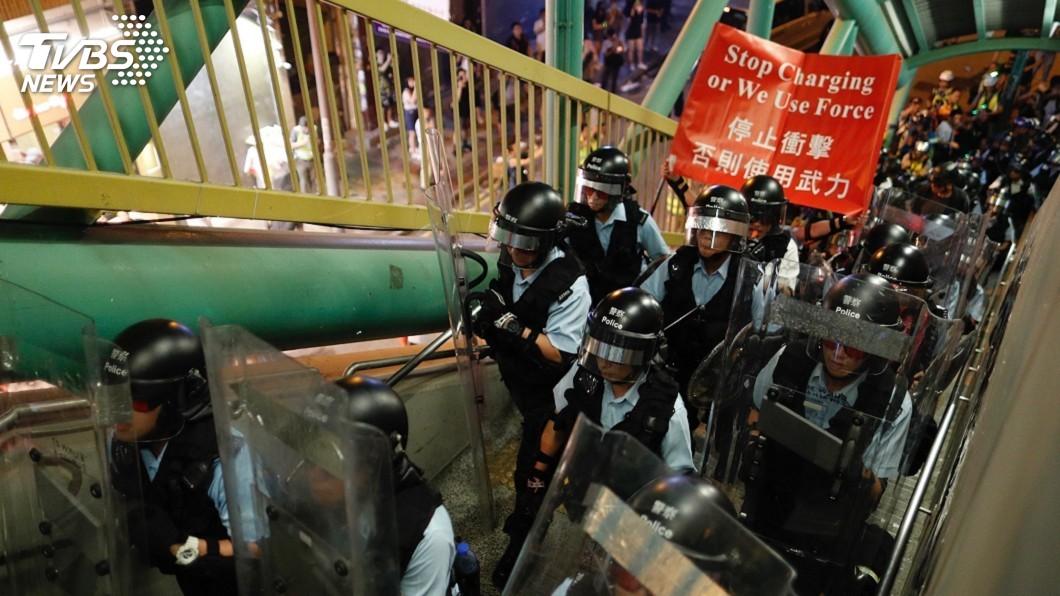 圖/達志影像美聯社 傳中國武警集結香港邊境 美國務院深感憂慮