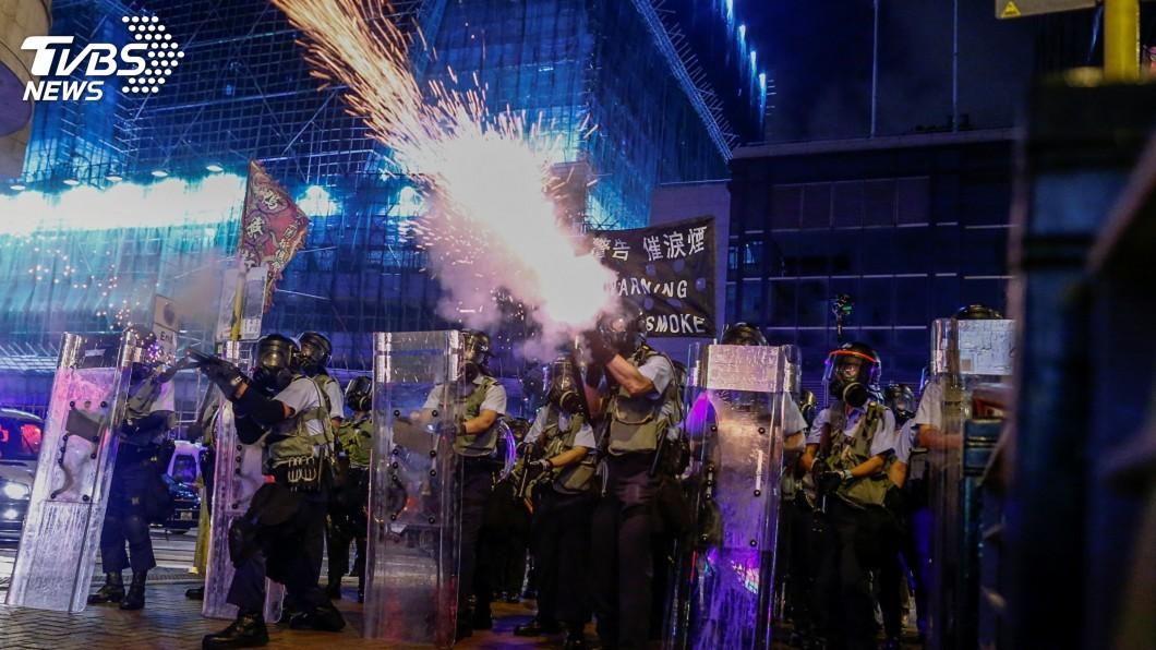 圖/達志影像路透社 中國武警待命深圳 美:尚無移往香港邊界跡象