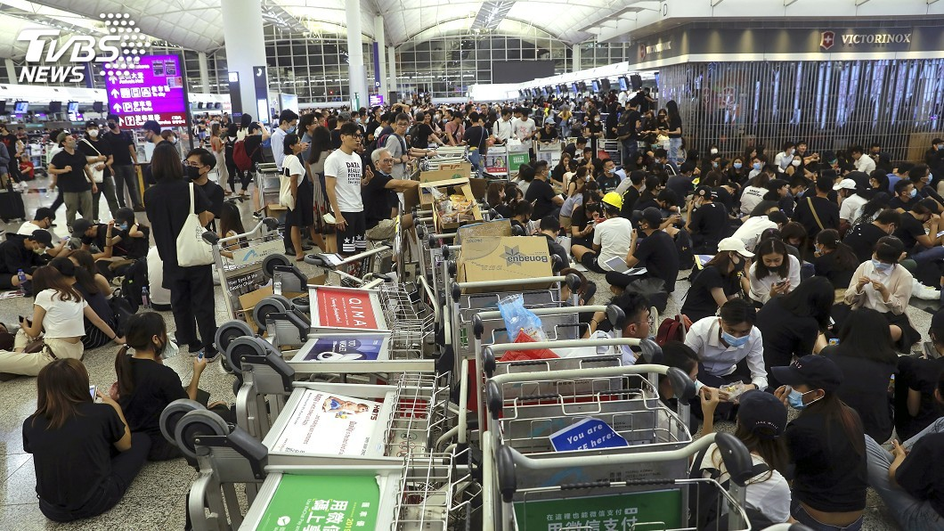 圖/達志影像美聯社 香港民陣818再辦遊行 建制派質疑能否保持和平