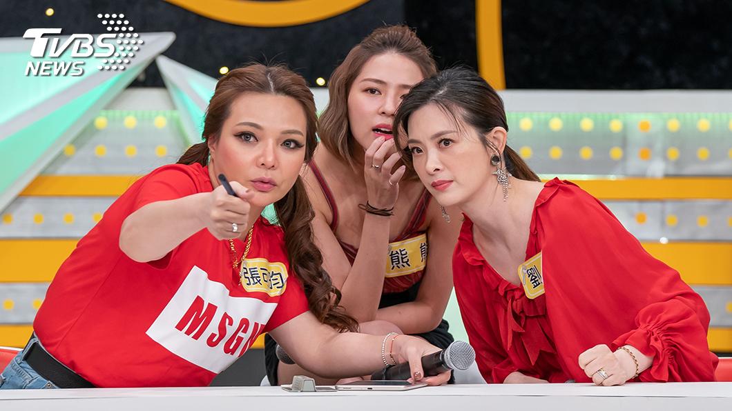 TVBS歡樂台《食尚玩家-歡樂有夠讚》 (左起)小甜甜、熊熊、劉真。圖/TVBS 劉真扛揹小甜甜  心情緊張猶勝結婚當天