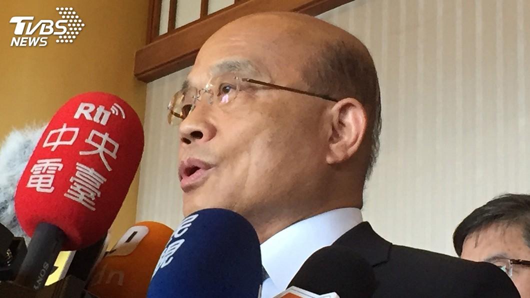 圖/中央社 韓國瑜指遭監控 蘇貞昌:國家機器很忙沒空搞他