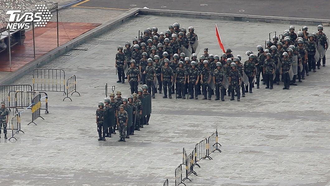 圖/達志影像路透社 防香港反送中失控 萬名武警深圳待命