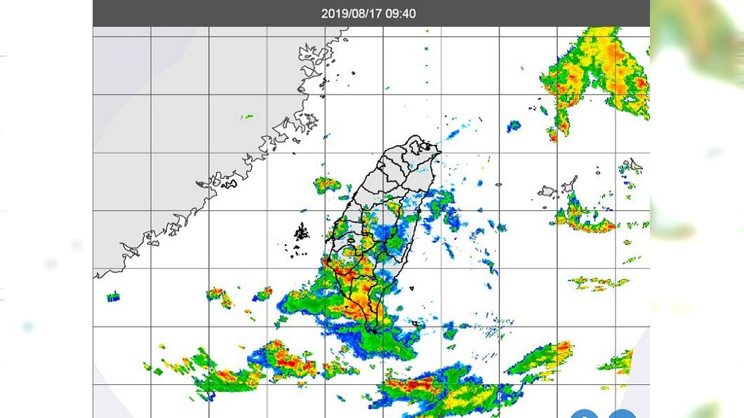 17日上午9時40分衛星雲圖。圖/翻攝中央氣象局