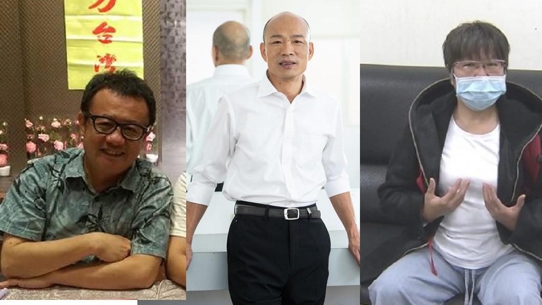 韓國瑜(中)將對黃光芹(右)、賴坤成(左)提告。圖/(左)翻攝自賴坤成臉書、(中)翻攝自韓國瑜臉書、(右)TVBS資料畫面 韓國瑜提告黃光芹、賴坤成 他吐真心話:不見得會贏