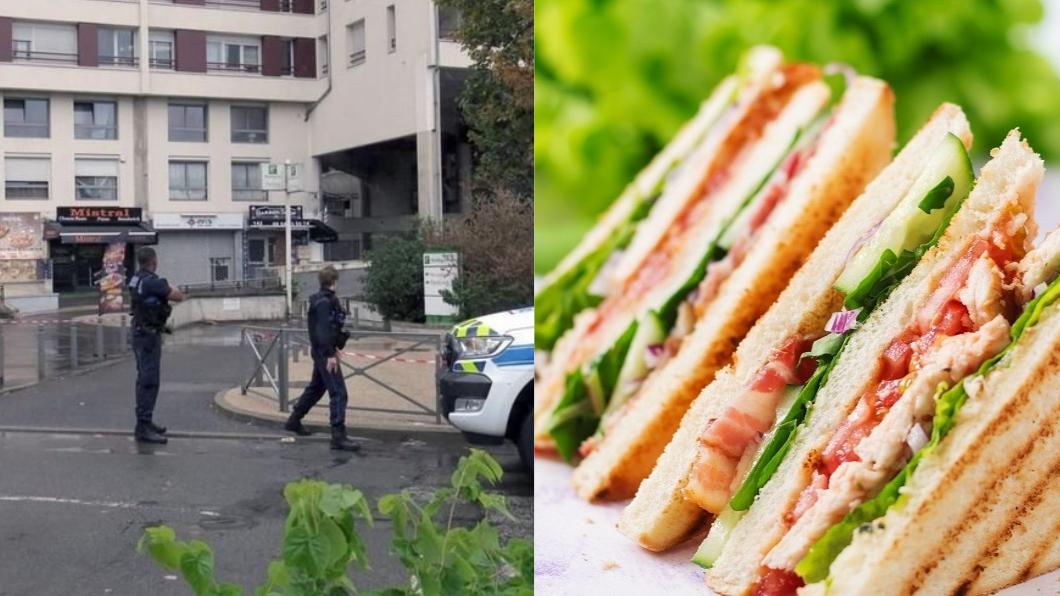 三明治槍擊案案發現場。圖/翻攝自(左)Twitter、(右)TVBS 「三明治等太久」 奧客暴怒開槍射殺店員!
