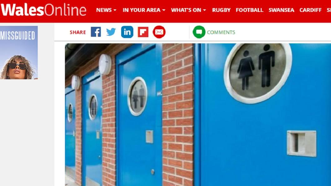 多功能公廁模擬圖。圖/截自WalesOnline
