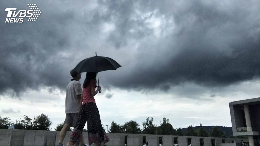 圖/中央社 天氣不穩定 各地有陣雨或雷雨