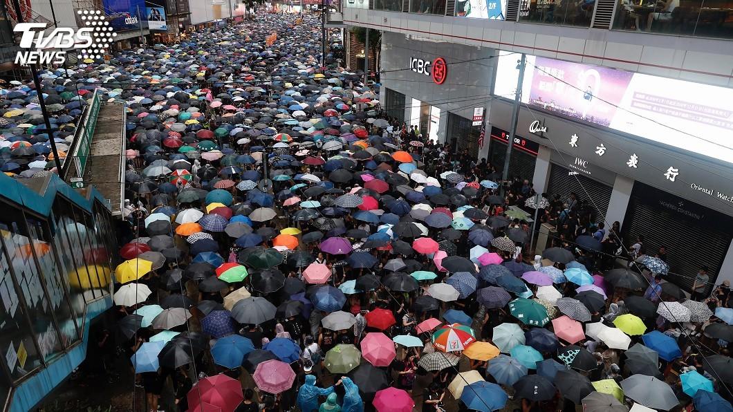 圖/達志影像美聯社 香港民陣申請31日再遊行 目的地中聯辦
