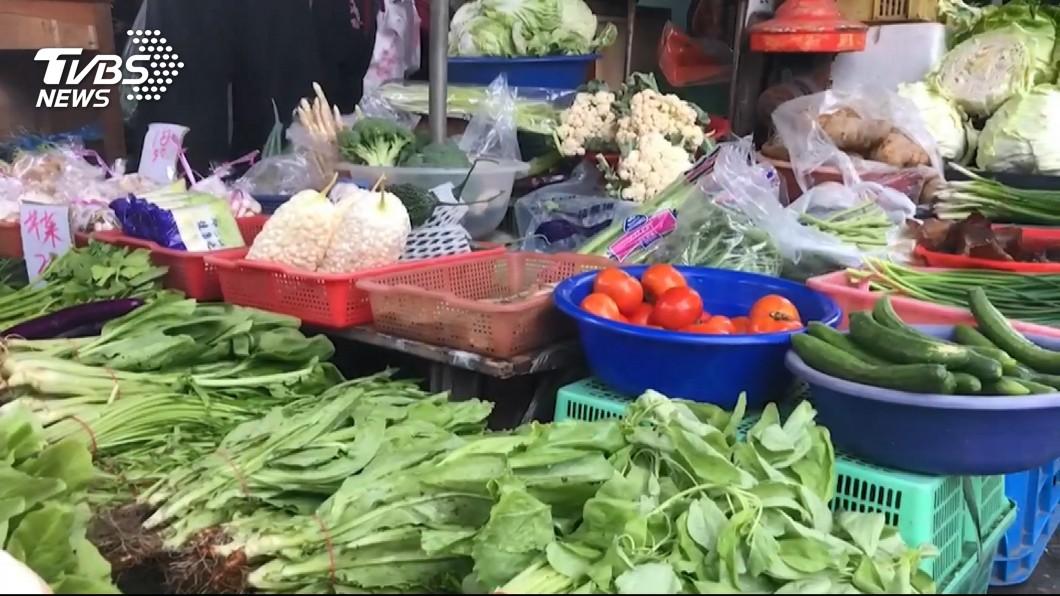 圖/TVBS 青蔥漲一倍! 葉菜價揚一台斤百元起跳