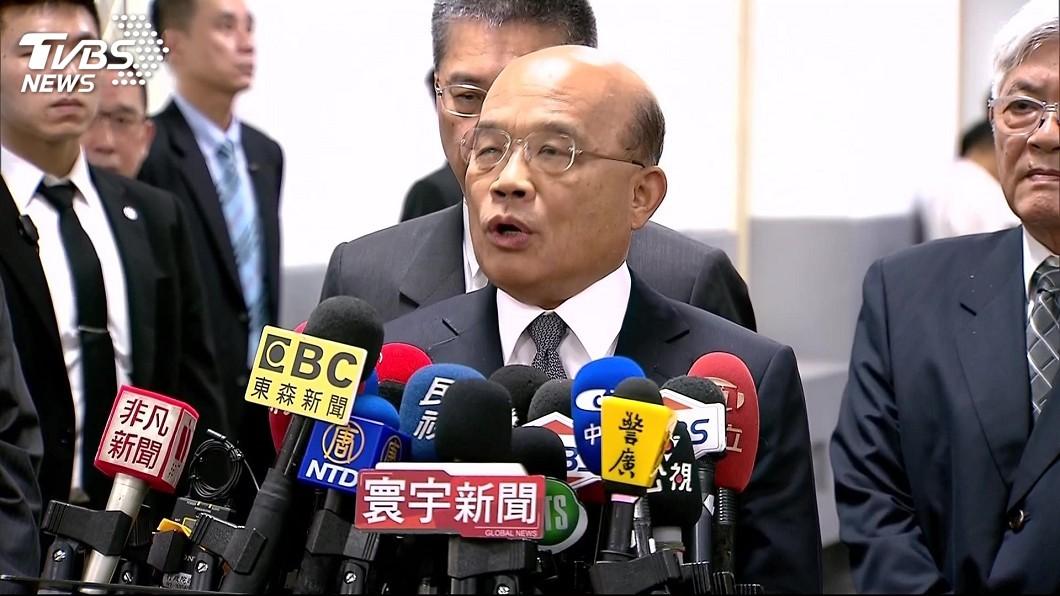 圖/TVBS 高雄豪雨釀農損 蘇貞昌:人民盼首長堅守崗位