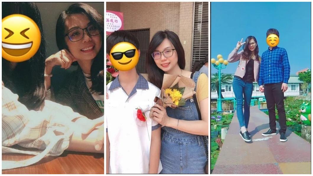 女大生還分享自己、弟弟、父親和母親的合照。(圖/翻攝自Dcard)