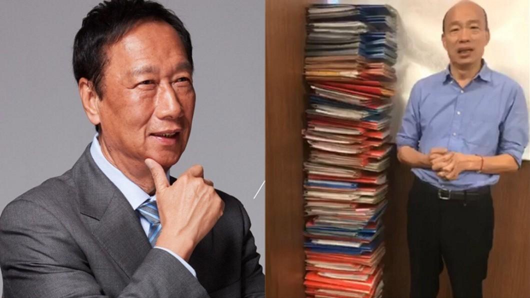 圖/翻攝自韓國瑜、郭台銘臉書 館長「神模仿」韓國瑜喊選總統!網敲碗:果凍可以疊台幣