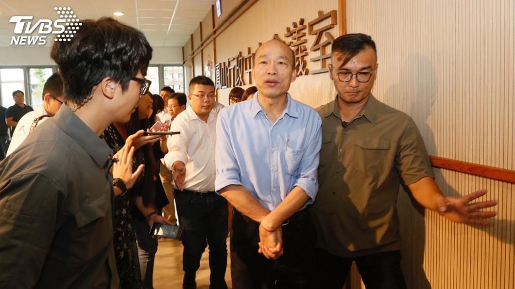 圖/中央社 將與酈英傑會晤 韓國瑜:不預設會談主題