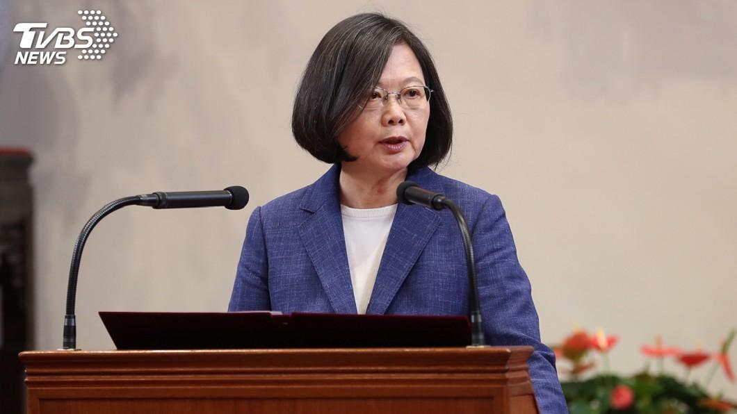 圖/中央社 總統:堅守民主與自由 盼今天台灣是明天香港
