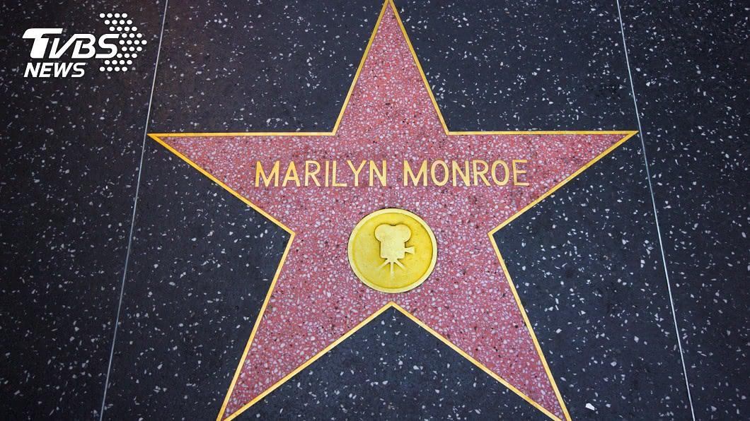 加州好萊塢大街上的瑪麗蓮夢露之星。圖/TVBS