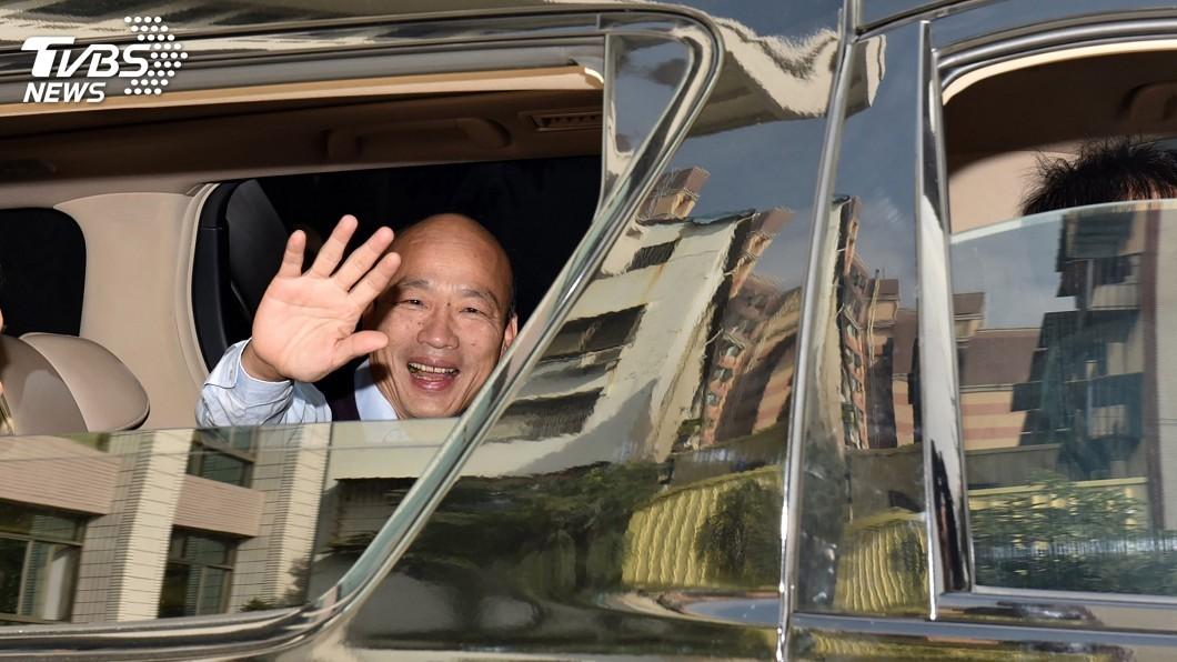 圖/中央社 韓國瑜稱座車遭裝追蹤器 高市警:市長室不提告