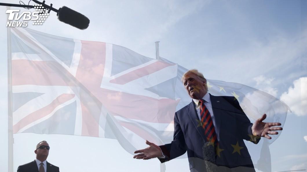 圖/達志影像美聯社 川普挺強生脫歐 預告將和英簽貿易大單