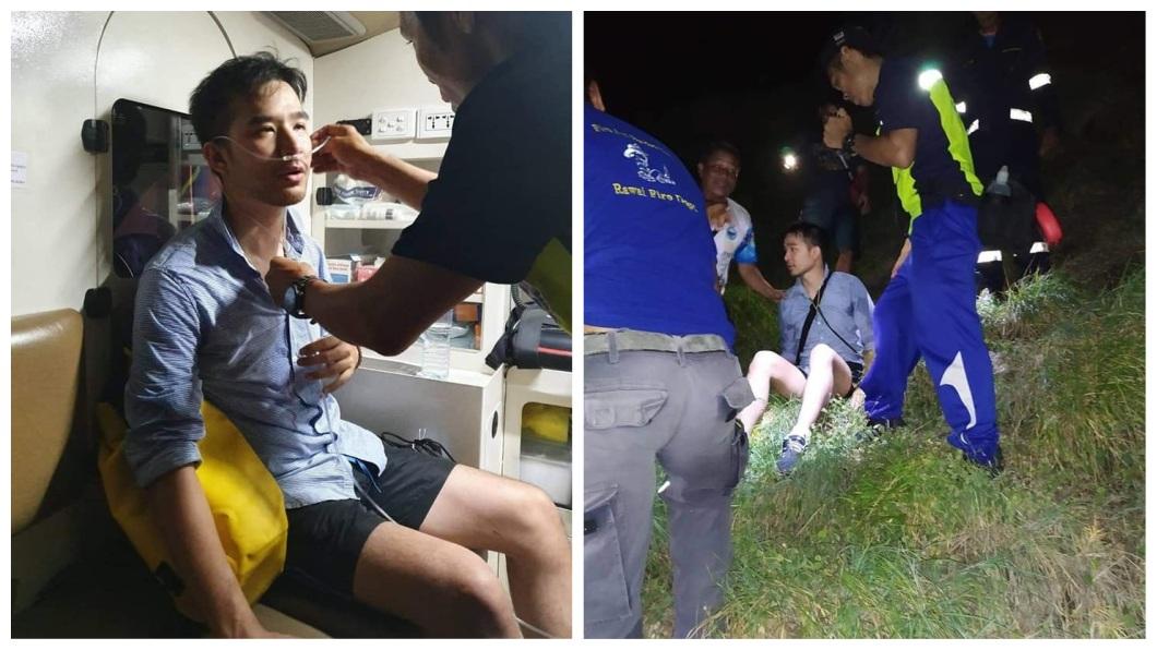 泰國一名男子日前跟著一名女孩走上懸崖,下秒對方突然憑空消失,他當場嚇到腿軟。(圖/翻攝自臉書) 天黑跟女孩走上懸崖 她「下秒消失」男嚇到腿軟