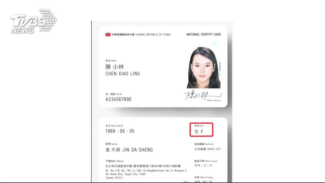 圖/TVBS 政院拍板數位身分證有國旗 109年10月起換發