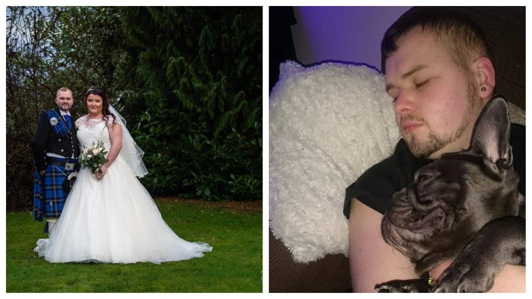 蘇格蘭一名男子日前在家中癌逝,沒想到飼養的2歲愛犬竟然暴斃,跟著主人一起升天。(圖/翻攝自臉書) 男主人癌逝 忠犬15分鐘後暴斃跟隨升天