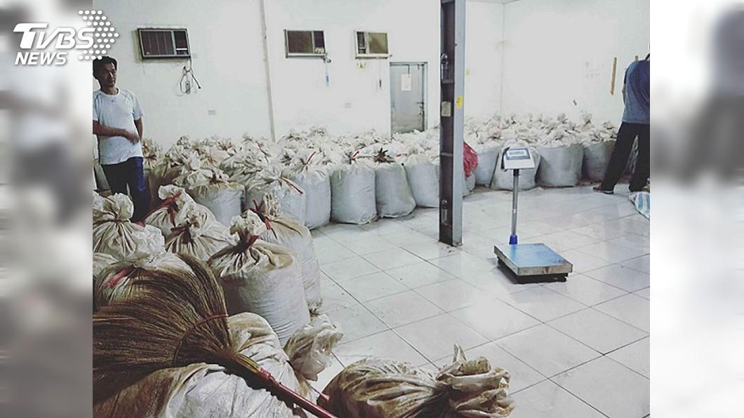 圖/中央社 彰化破私菸工廠查扣11噸菸絲 海巡史上最大