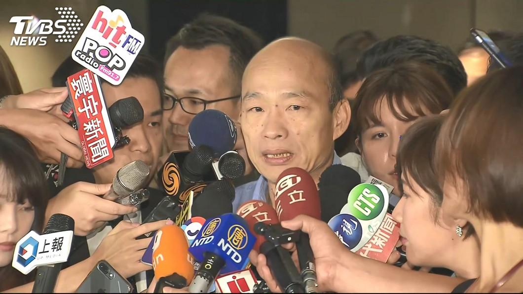 高雄市長韓國瑜。圖/TVBS 追蹤器疑雲!府方3度籲韓提告 他批:吃被害人豆腐?