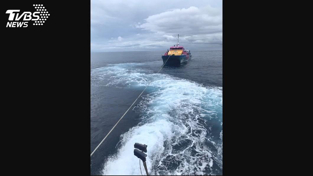 圖/TVBS 1個月2次故障 26年船齡天王星號客輪禁航