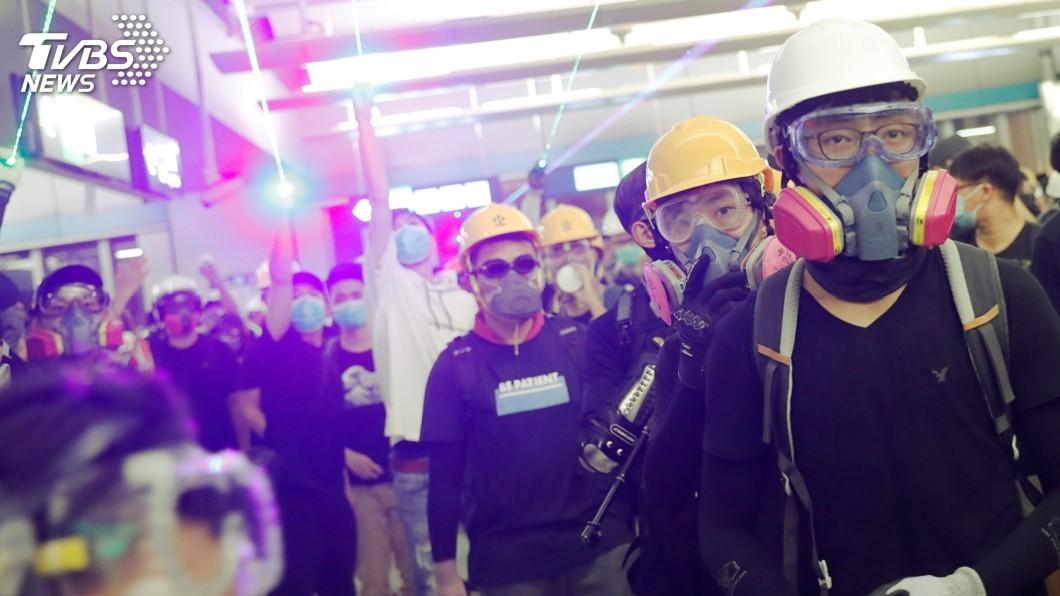 圖/達志影像路透社 香港反送中再現衝突 示威者元朗挑戰警方
