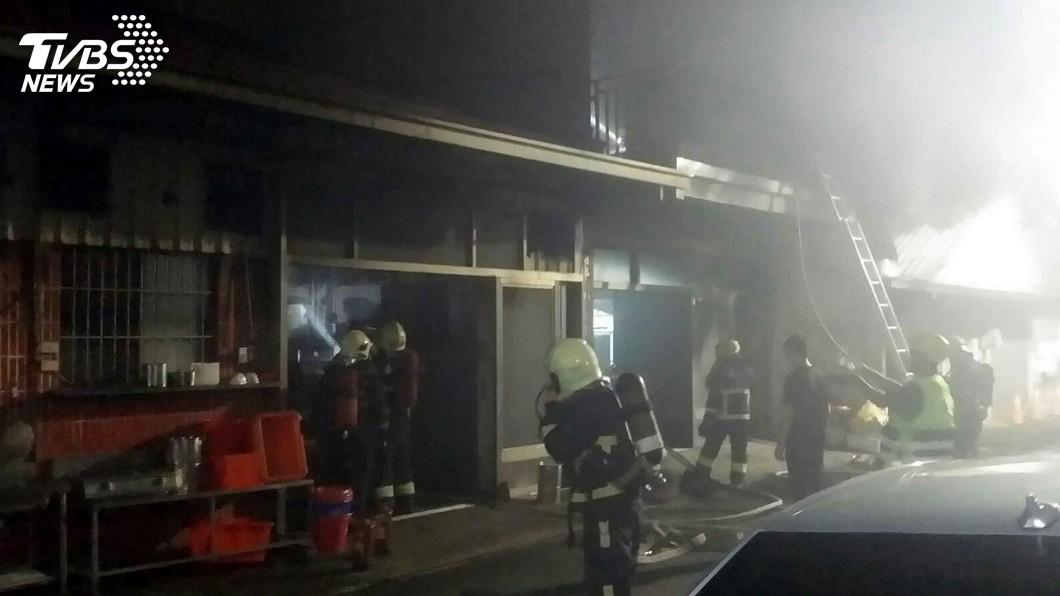 圖/中央社 嘉市知名碗粿小吃店火警 幸無人員受傷