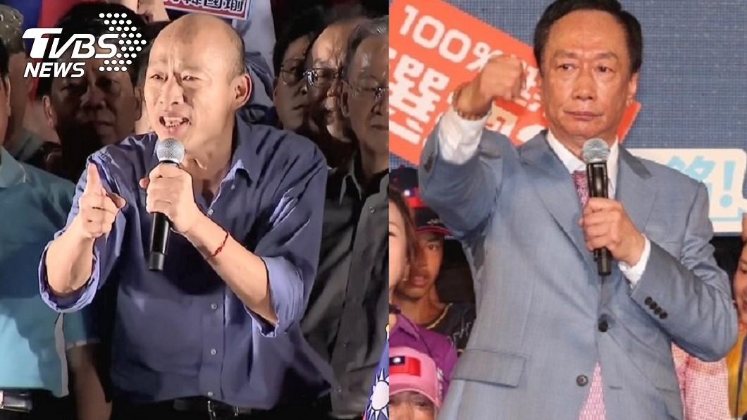 換掉韓國瑜換郭台銘代表國民黨選總統,名嘴直言:不可能,要輪也輪不到他。(合成圖/TVBS) 換瑜還有「大的在後面?」 名嘴爆:郭別等了還有他