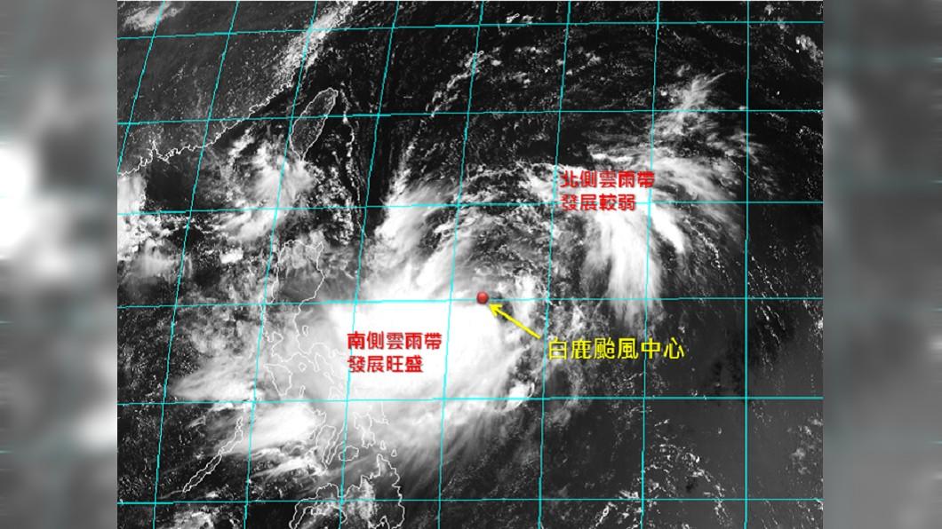 圖/翻攝自臉書粉專「天氣職人-吳聖宇」 白鹿結構不對稱! 專家曝「實際風雨感受」:有南北差異